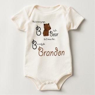 B is for Brandon, Baby Bear Tee