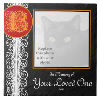 "B Monogram ""In Memory of Your Loved One"" Tile Tile"