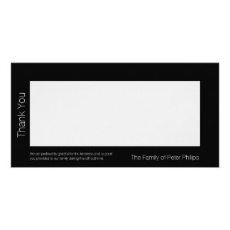 B Template Sympathy Thank you Add favorite image Personalised Photo Card