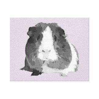 B&W 'Betty' Guinea Pig Canvas Print