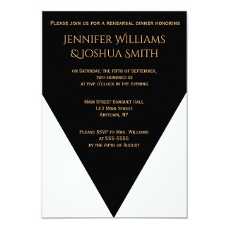 B&W Geometric Modern rehearsal dinner invitations