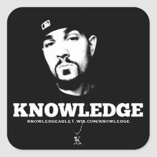 B&W Knowledge Sticker