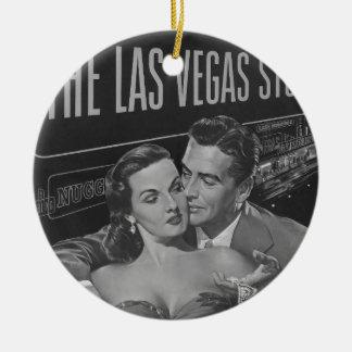 B&W Las Vegas poster Christmas Ornament