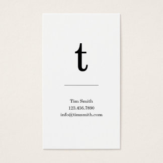 B&W Modern Initial Monogram Business Cards