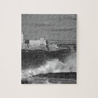 B&W Morro Castle Jigsaw Puzzle