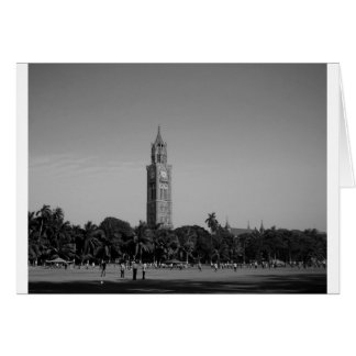B&W Rajabai Clock Tower Card