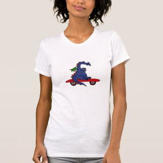BA- Cartoon Dragon on a Skateboard T-shirt