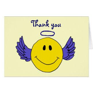 BA- Smiley Face Angel Thank you Card