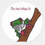 BA- This book belongs to: frog sticker