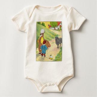 Baa, baa, black sheep, Have you any wool? Baby Bodysuit