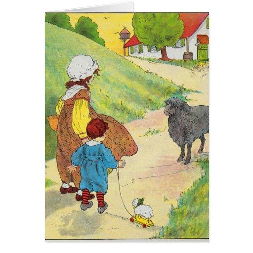 Baa, baa, black sheep, Have you any wool? Greeting Cards