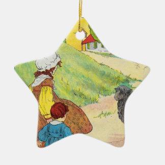 Baa, baa, black sheep, Have you any wool? Ceramic Star Decoration
