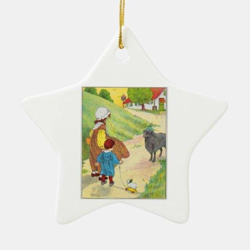 Baa, baa, black sheep, Have you any wool? Christmas Tree Ornaments