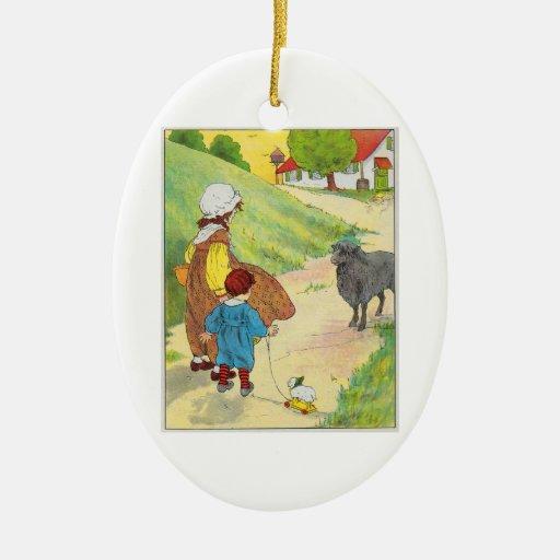 Baa, baa, black sheep, Have you any wool? Christmas Ornament