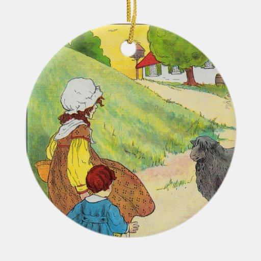 Baa, baa, black sheep, Have you any wool? Christmas Tree Ornament