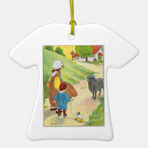 Baa, baa, black sheep, Have you any wool? Ornament