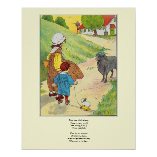 Baa, baa, black sheep, Have you any wool? Print