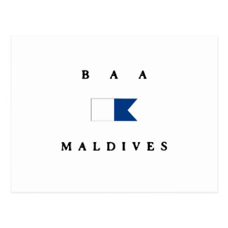 Baa Maldives Alpha Dive Flag Postcard