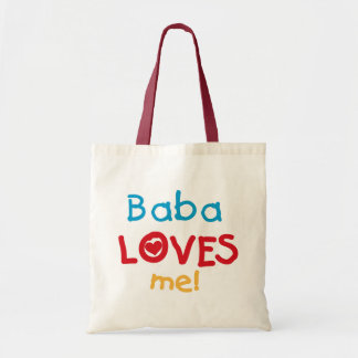Baba Loves Me T-shirts and Gifts Budget Tote Bag