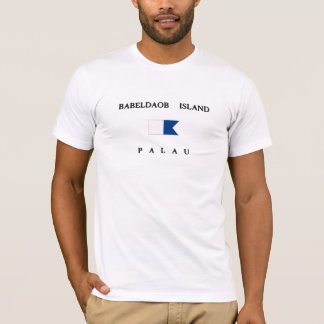 Babeldaob Island Palau Alpha Dive Flag T-Shirt