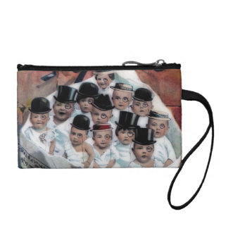 Babies in Newspaper Coin Purse
