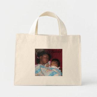 babies, Momma babies, Sleeping, Granny's Babies Mini Tote Bag
