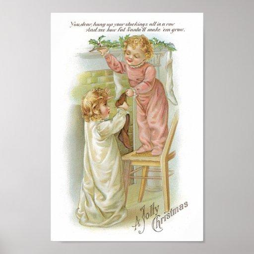 Babies on Christmas Poster
