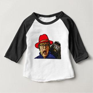 Baboon monkey scares English old man Baby T-Shirt