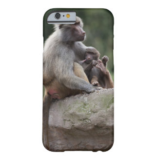 Baboon mother nursing her young barely there iPhone 6 case