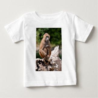 Baboon on tree stump baby T-Shirt