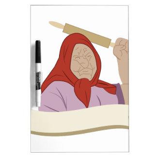 Babushka Grandma Dry Erase Board