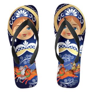 Babushka Matryoshka  Russian Doll Jandals