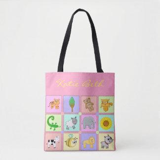 Baby Animals for the Baby - Pink Baby Tote/Handbag Tote Bag