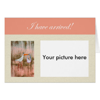 Baby arrival announcement,Custom photo card. Card