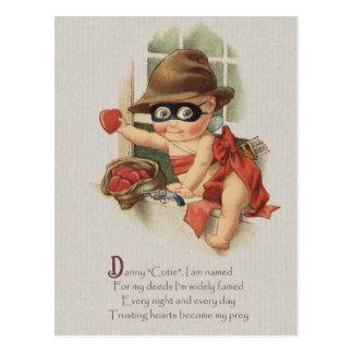 Baby bandit stealing hearts CC0862 Danny Cutie Postcard