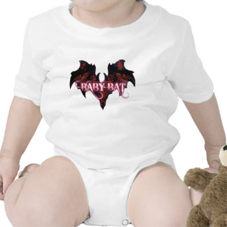 Baby Bat White Rabbit Logo Short Sleeve Baby Bodysuit