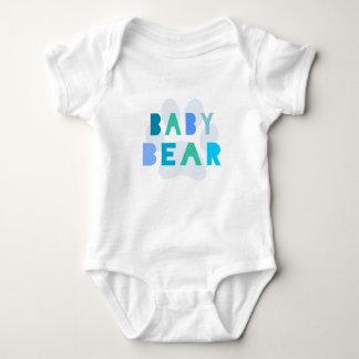 Baby bear - blue baby bodysuit