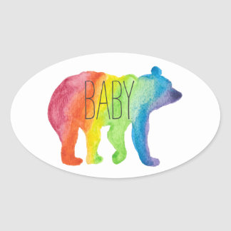 Baby Bear Watercolor Family Pride Sticker