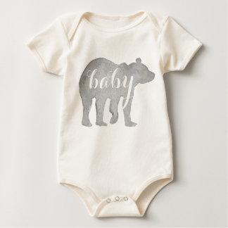 Baby Bear Watercolor Organic Bodysuit