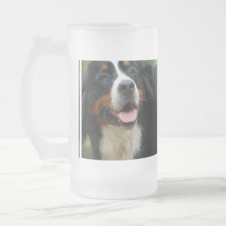 Baby Bernese Mountain Dog Frosted Glass Beer Mug