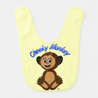 "Baby Bib, Graphic Design ""CHEEKY MONKEY"" Bib"
