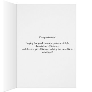 Baby birth congratulation card