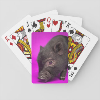 Baby Black Pig Playing Cards