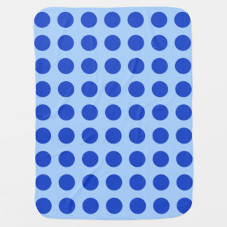 Baby Blanket in Blue Circles