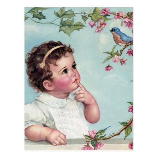 Baby Blue Bird Post Card