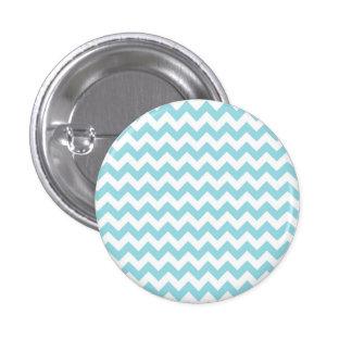 Baby Blue Chevron Button