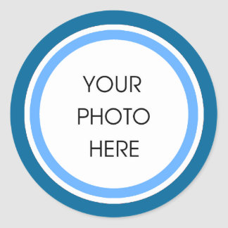 Baby Blue Cirlces Classic Round Sticker