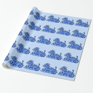 Baby Blue Dragon Wrapping Paper