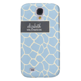 Baby Blue Giraffe Pern Galaxy S4 Case