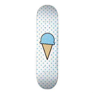 Baby Blue Ice Cream Cone 19.7 Cm Skateboard Deck